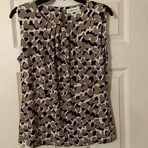 Calvin Klein pleated neck blouse M